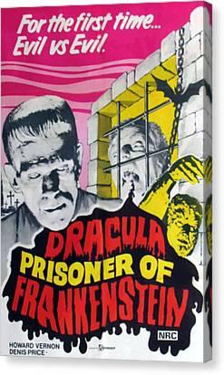 Dracula Contra Frankenstein, Aka Canvas Print