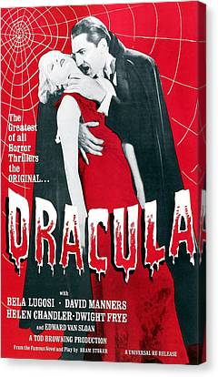 Dracula, From Left Frances Dade, Bela Canvas Print