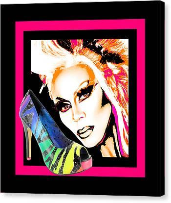 Drag And Stilettos Canvas Print