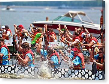 Canvas Print featuring the photograph Dragon Boat Regatta 2 by Jim Albritton