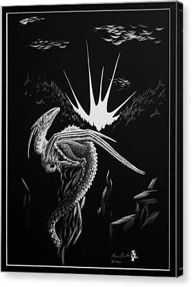 Dragon Rise Canvas Print by Morgan Banks