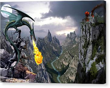 Dragon Valley Canvas Print by The Dragon Chronicles - Garry Wa