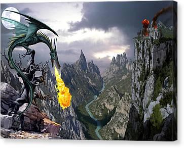 Dragon Valley Canvas Print