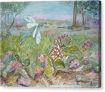 Dragonfly Canvas Print by Dorothy Herron