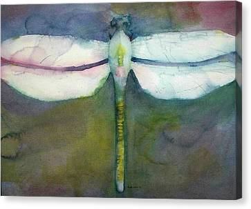 Canvas Print featuring the painting Dragonfly by Richard Willows