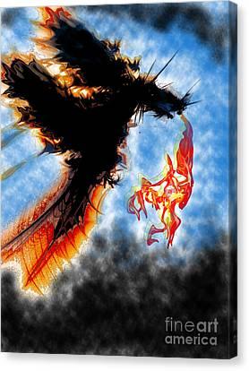 Dragons Breath Canvas Print by Trevor Fellows
