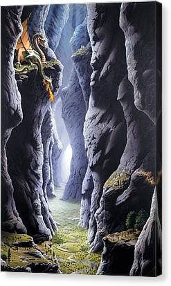 Dragons Pass Canvas Print by The Dragon Chronicles - Steve Re