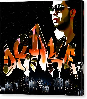 Drake 'watch Over The City' By Gbs Canvas Print