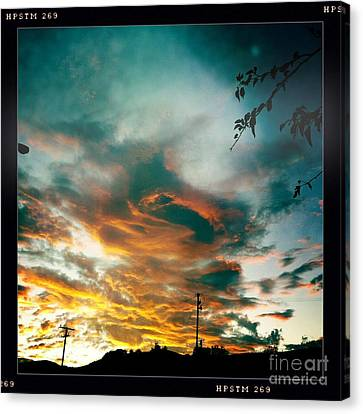 Canvas Print featuring the photograph Drama In The Sky by Nina Prommer