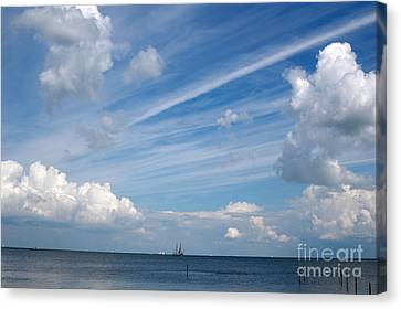Canvas Print featuring the photograph Drama In The Sky by Vilas Malankar