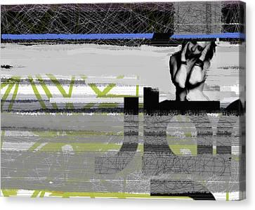 Brush Canvas Print - Drama by Naxart Studio