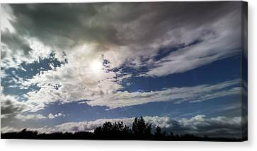 dramatic clouds V Canvas Print by Nafets Nuarb
