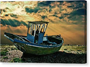 Dramatic Dungeness Canvas Print by Meirion Matthias