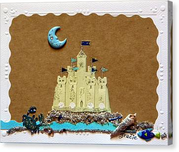 Dream Castle Canvas Print by Gracies Creations