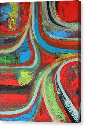 Canvas Print featuring the painting Dream Highway by Everette McMahan jr