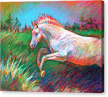 Canvas Print featuring the painting Dream Horse by Nancy Tilles