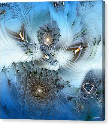Canvas Print featuring the digital art Dream Journey by Casey Kotas