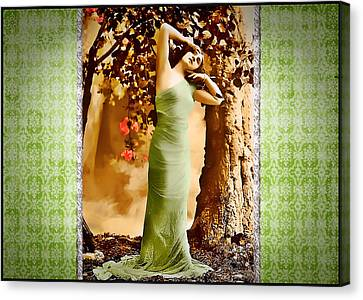 Canvas Print featuring the photograph Dream Of The Night II by Mary Morawska