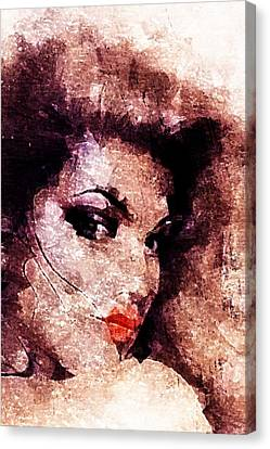 Canvas Print featuring the digital art Dreamgirl by Andrea Barbieri