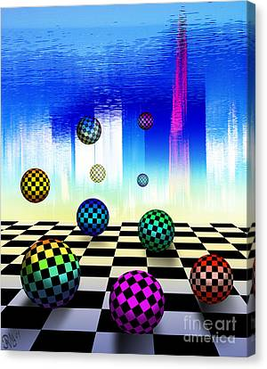 Canvas Print featuring the digital art Dreaming Chess by Rosa Cobos