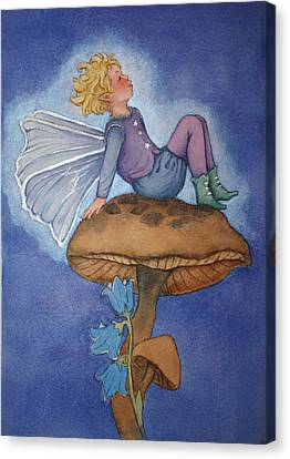 Dreaming Fairy Canvas Print by Leslie Redhead