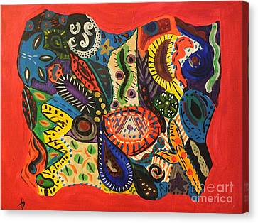 Dreaming In Chaos Canvas Print by Tammy Herrin
