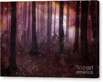 Dreamland Surreal Fantasy Tree Woodlands Canvas Print by Kathy Fornal