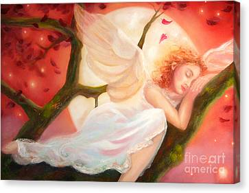 Dreams Of Strawberry Moon Canvas Print by Michael Rock