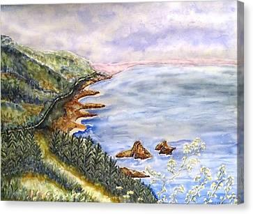 Dreamy Coast Canvas Print by DJ Laughlin