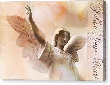Dreamy Ethereal Angel Art-follow Your Heart Canvas Print by Kathy Fornal