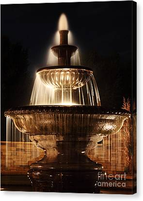 Dreamy Fountain Canvas Print by Val Armstrong