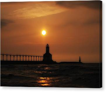 Dreamy Sunset At The Lighthouse Canvas Print