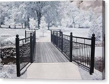 Dreamy Surreal South Carolina Infrared Gate Scene Canvas Print by Kathy Fornal