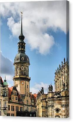 Dresden Hausmannsturm - Housemann Tower Canvas Print