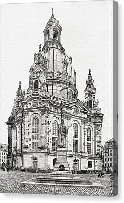 Dresden's Church Of Our Lady - Reminder Of Peace Canvas Print by Christine Till