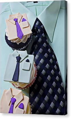 Dress Shirt Cupcakes Canvas Print by Garry Gay