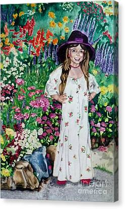Dress Up In The Garden Canvas Print