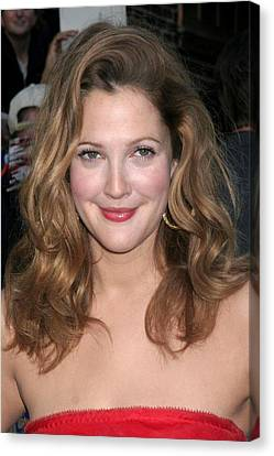 Sullivan Canvas Print - Drew Barrymore At Talk Show Appearance by Everett
