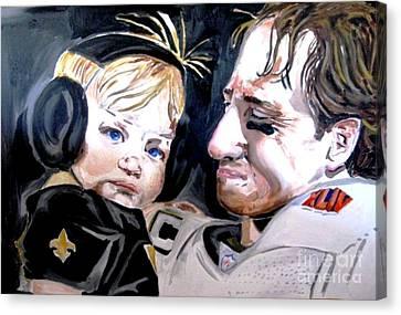 Drew Brees Canvas Print by Patrick Ficklin