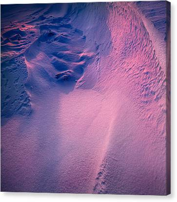Drifted Snow At Sunset Canvas Print by Andy Astbury