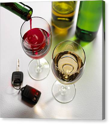 Drink Driving, Conceptual Image Canvas Print by Mark Sykes