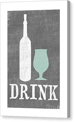 Wine Art Canvas Print - Drink by Misty Diller