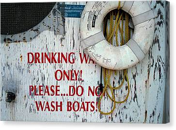 Drinking Water Only Canvas Print by Patricia Greer