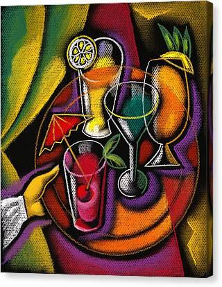Wine Glass Canvas Print - Drinks by Leon Zernitsky