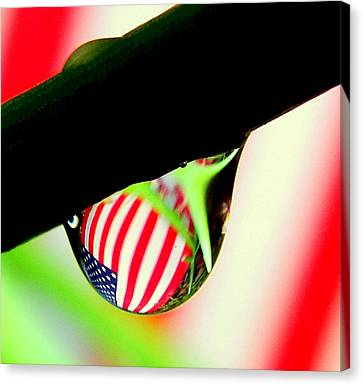 Drip Of America  Canvas Print