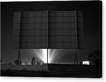 Drive-in Theater - After The Dust Storm Canvas Print by Nick Florio