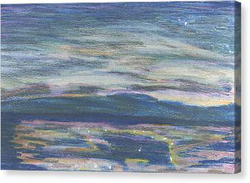 Canvas Print featuring the pastel Driving By Utica by Denny Morreale