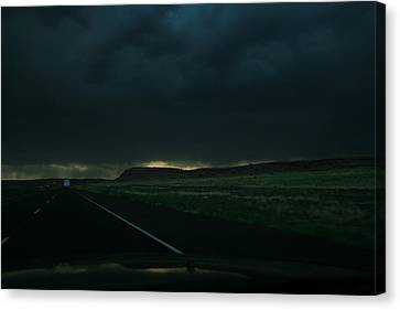 Driving Rain Number One Canvas Print