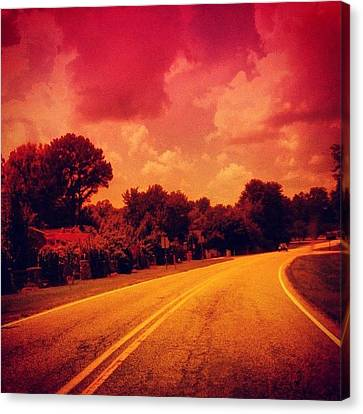 Edit Canvas Print - #driving #sky #clouds #road #summer by Katie Williams