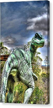 Dromaeosauridae Canvas Print by Jason Abando